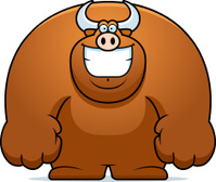 Cartoon Bull Smiling