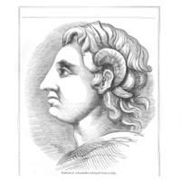 Portrait of Alexander historical engraving