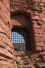 Barred Castle Window