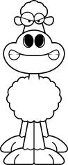 Angry Cartoon Sheep