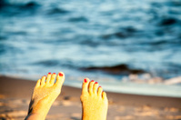 Toes and Ocean