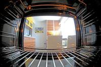 Inside oven