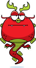 Bored Cartoon Chinese Dragon