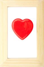 Valentine Heart in Wood Frame