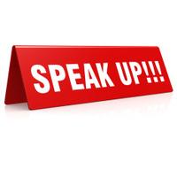Speak up banner