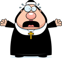 Scared Cartoon Nun