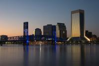 City of Jacksonville, Florida at sunset