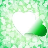 Light Open Cut Heart Background Green