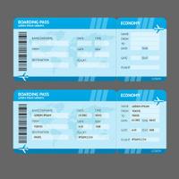 Vector Modern Airline boarding pass tickets