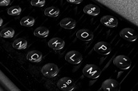 Manual typewriter keys