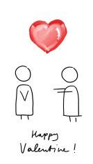 Happy Valentine Couple Comic