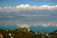 Gorgeous picturesque scene of Lake Skadar in Montenegro