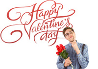 Composite image of geeky hipster holding roses
