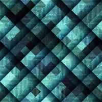 Abstract geometric pattern in matrix style and green color.