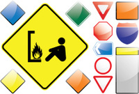 US Road Signs – Open Fire