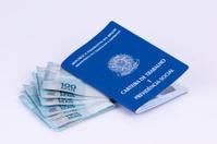 Brazilian work document (carteira de trabalho) and brazilian cur
