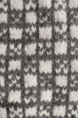 Gray mitten background, grey white textured woolen mittens patte