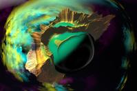 3D rendered fantasy alien planet. Space
