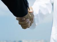 Doctors and businessmen shaking hands