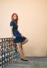 Portrait of a redhead girl.