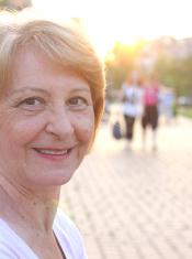 Senior happy woman