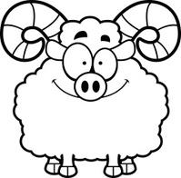 Smiling Cartoon Ram