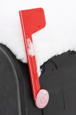 Mailbox Flag Snow