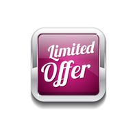 Limited Time Offer Pink Vector Icon Button