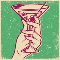 Retro Screen Print Martini