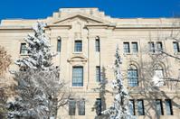 Saskatchewan Legislative Building south side view in winter