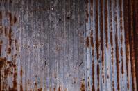 Old corrugated iron.