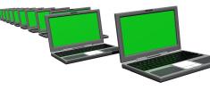 3d Row of Laptops (XXL)