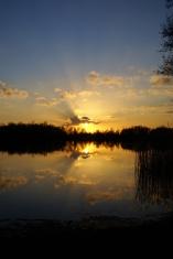 Reflection of a beautiful sunset