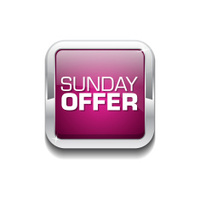 Sunday Offer Pink Vector Icon Button