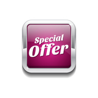 Special Offer Pink Vector Icon Button