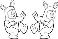 Costume Rabbit Dancing