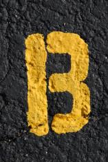 Alphabet, Asphalt Stenciled B
