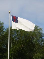 Christian Flag On A Pole
