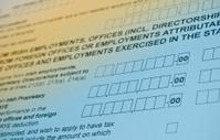 Irish tax form.