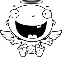 Cartoon Baby Angel Happy