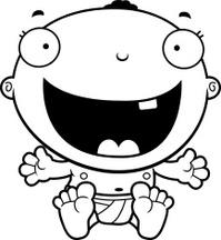 Cartoon Baby Boy Happy