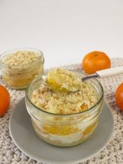 Mandarin crumb cake baked in a jar