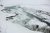 Gullfoss Falls during winter in Iceland