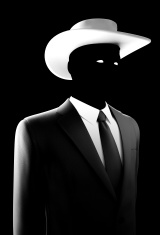 Silhouette Spy agent Wearing Fedora Hat
