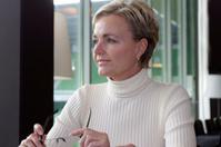 Female CEO thinking