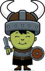 Cartoon Orc Child Sword
