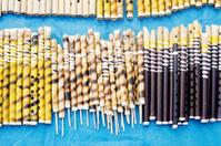 Flutes made of bamboo,  Indian handicrafts fair at Kolkata