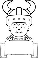 Child Viking Banner
