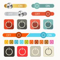 On Off Vector Symbols Set