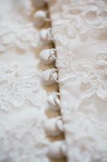 Part of wedding dress